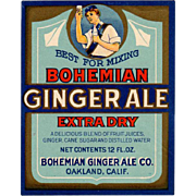 Vintage Soda Bottle Label - Bohemian Ginger Ale
