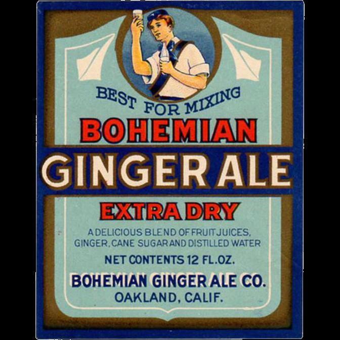 Vintage Soda Bottle Label - Bohemian Ginger Ale