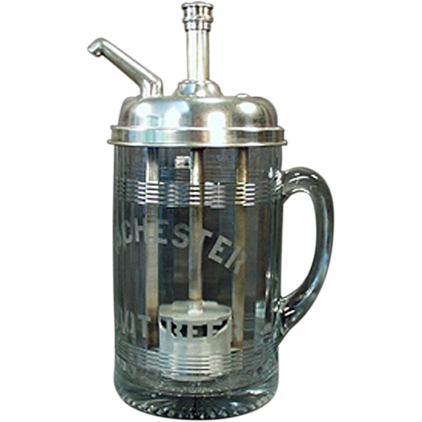 Vintage - Rochester Mug Root Beer Dispenser - Soda Fountain Advertising Piece