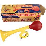 Vintage Bicycle Accessory - Plastic Goose Horn with Original Box