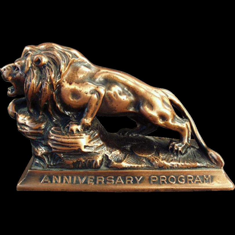 Vintage, Paperweight - Lion International Advertising