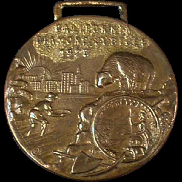 Vintage Watch Fob - California's Diamond Jubilee - 1925