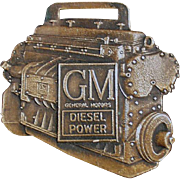 Vintage Watch Fob Advertising GM Diesel Power