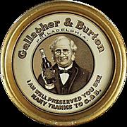 Vintage, Advertising Tip Tray - Gallagher & Burton Whiskey