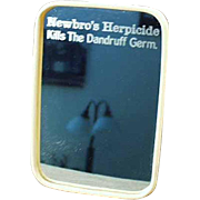 Vintage, Celluloid Framed, Advertising Mirror - Newbro's Herbicide