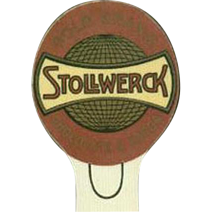 Vintage Celluloid Bookmark Advertising Stollwerck Cocoa