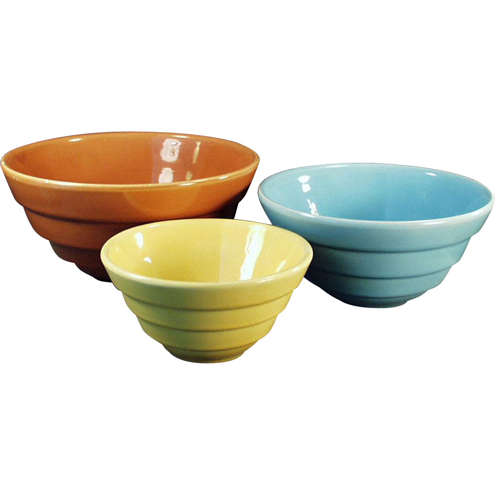 Colorful, Vintage Nesting Bowls - 3 Different Colors