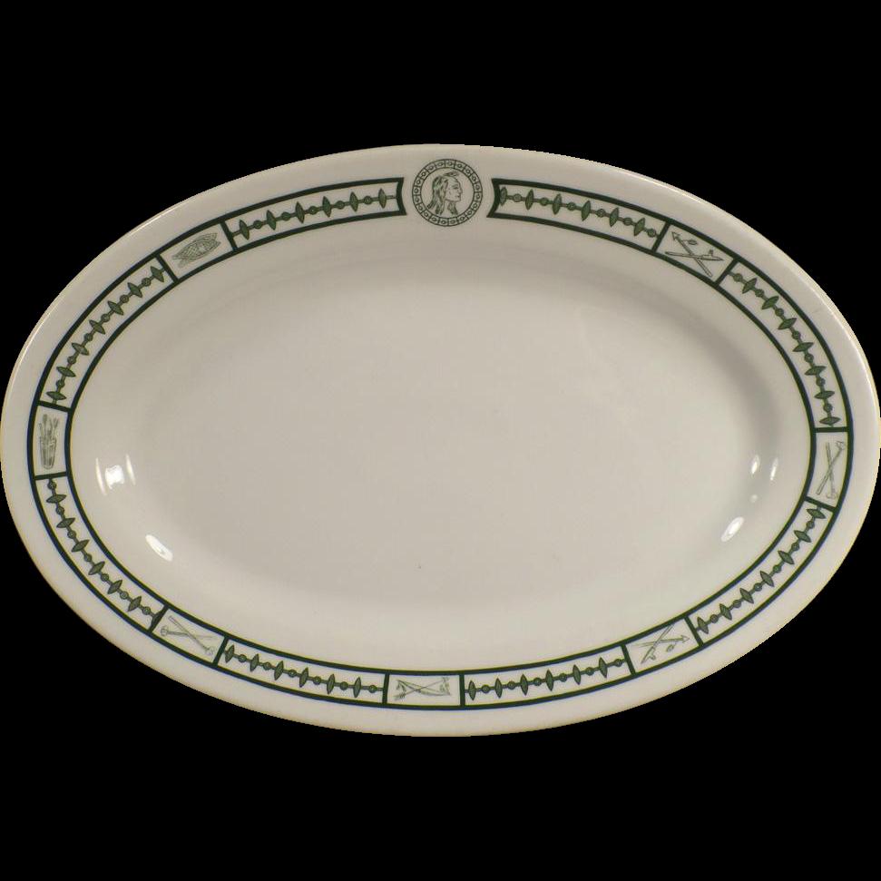Vintage Restaurant China - Serving Platter with Indian Motif