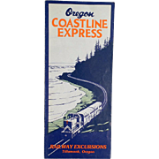 Vintage, Oregon Coastline Express Map - 1955 - Rand McNally