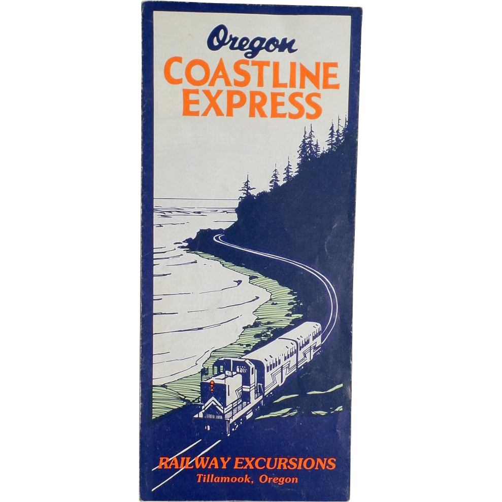 Vintage, Oregon Coastline Express Map - 1955 - Rand McNally