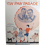Vintage Sheet Music- Tin Pan Parade with Ukulele Arrangement