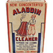 Vintage Aladdin Cleaner Box with Nice Graphics