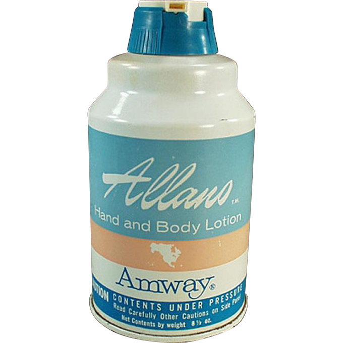 Vintage Amway Product - 1965 Amway Hand Lotion Tin