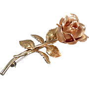 Krementz Rose Pin - Old Estate Jewelry