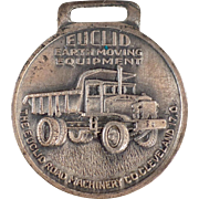 Vintage Watch Fob - Euclid Earth Moving Equipment Advertising