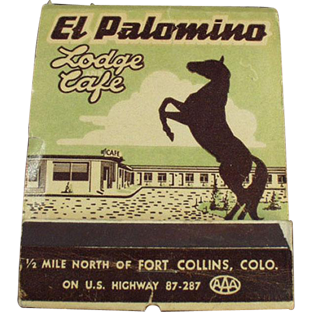 Vintage, Over Sized, Advertising Matchbook - El Palomino Lodge