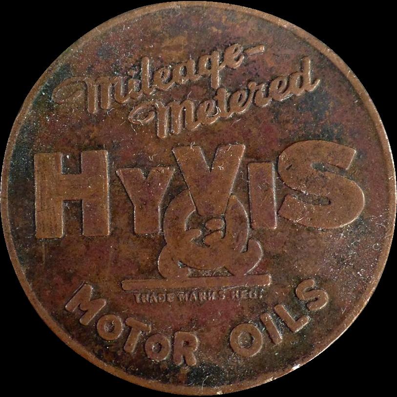 Vintage, HyVis Motor Oils Token
