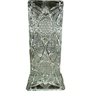 Vintage Straw Holder - Illinois Glass Pattern