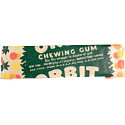 Vintage Chewing Gum Stick - Wrigley's Orbit - Not the New Stuff!
