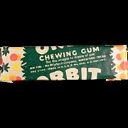 Vintage Chewing Gum Stick - Wrigley's Orbit - Not the New Stuff!