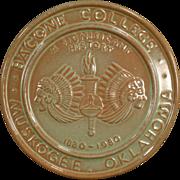 Vintage, Prairie Green Frankoma, Bacone College Centennial Trivet