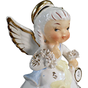 Vintage, Porcelain, Birthday Angel Figure - January