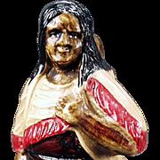 Vintage Celluloid, Perfume Holder - Indian Woman - German