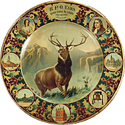Vintage, Elks Grand Lodge, Lithographed Tin Plate - 1907