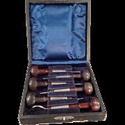 Vintage, Ezra F. Bowman Engraving Tools - Set of Six (6) with Box