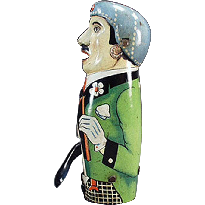 Vintage, Friction, Sparking Tin Toy from Germany