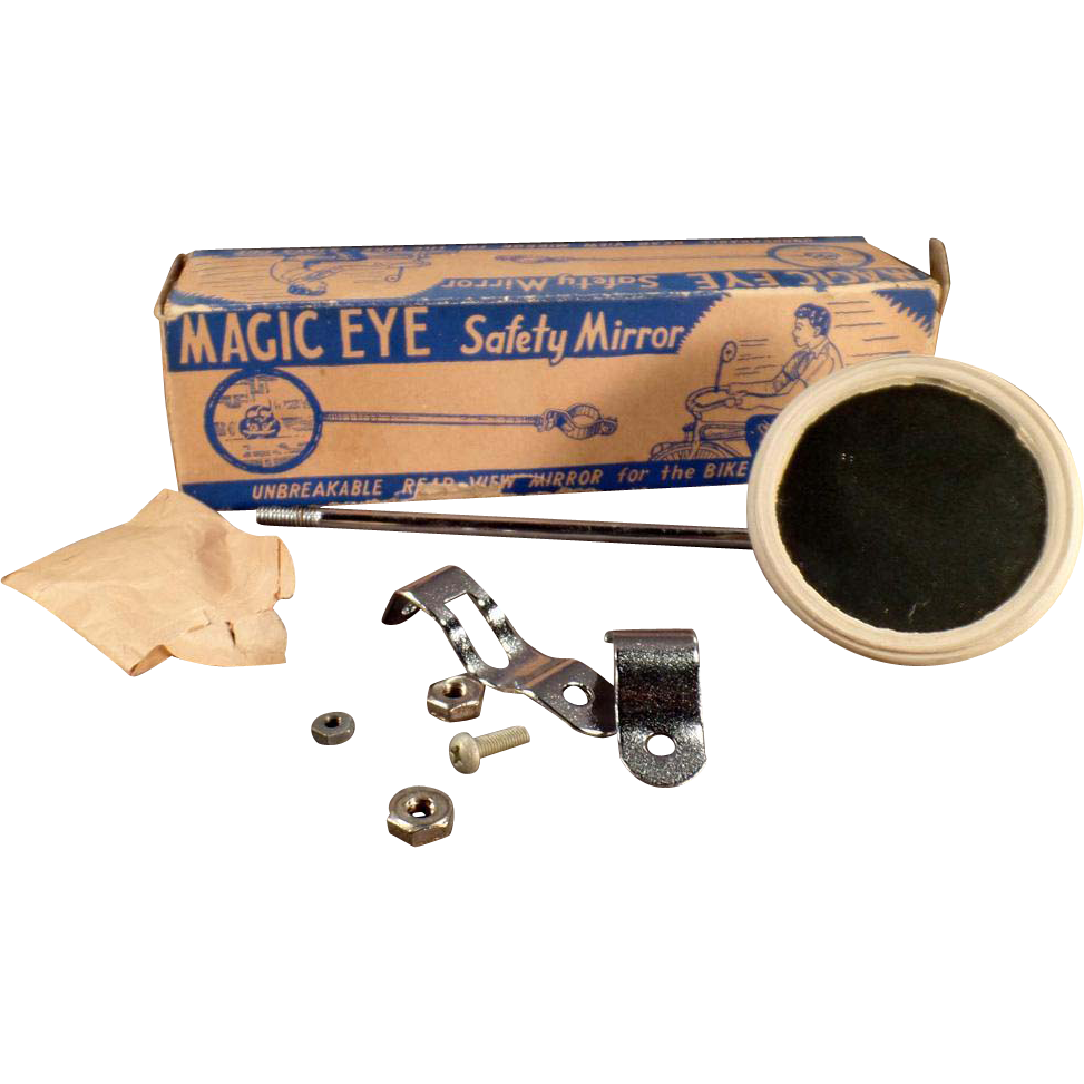 Vintage Bicycle Accessory - Magic Eye Mirror with Original Box