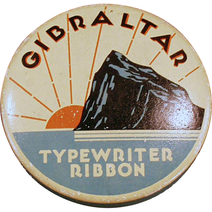 Vintage, Typewriter Ribbon Tin - Gibraltar