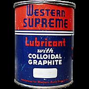 Vintage, Western Auto Grease Tin