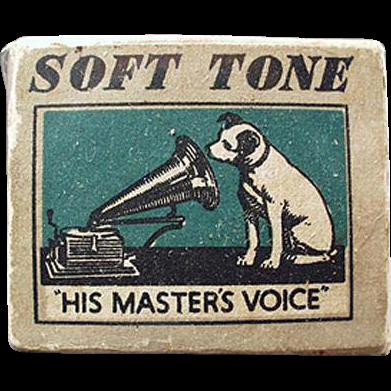 Vintage, Phonograph Needle Box - His Master's Voice