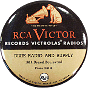 Vintage, Celluloid, Record Duster - RCA Victor with Nipper Logo