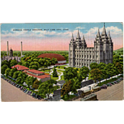 Vintage Postcard - Mormon Temple in Salt Lake City