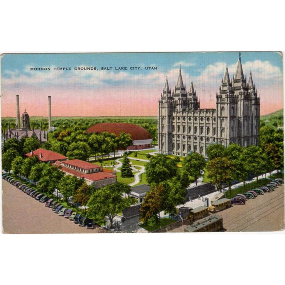 Vintage Postcard - Mormon Temple in Salt Lake City