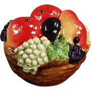 Vintage, Figural Celluloid, Tape Measure - Colorful Fruit Basket