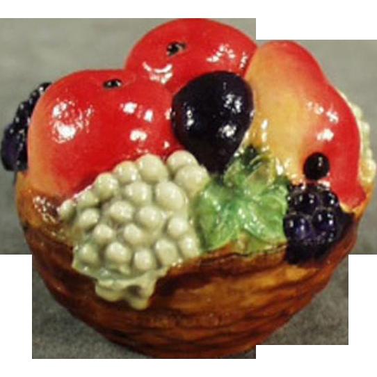 Vintage, Figural Celluloid, Tape Measure - Colorful Fruit Basket