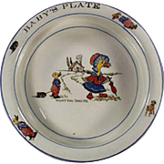 Vintage Baby's Plate - Wellsville China, Mother Goose