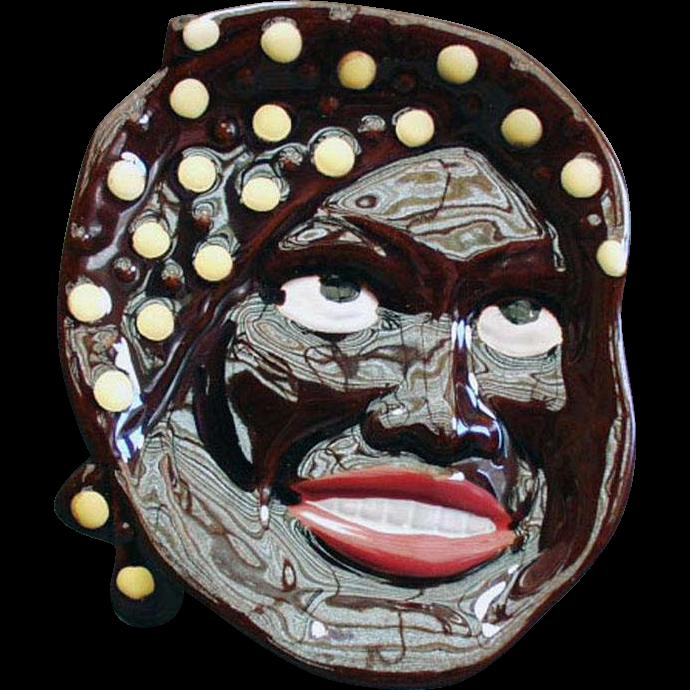 Vintage Spoon Rest Plaque - Black Mammy Face