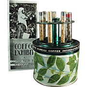 Vintage, Advertising Exhibit Tin from the Coffee Bureau - Complete