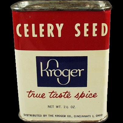 Vintage Spice Tin -  Kroger Celery Seed