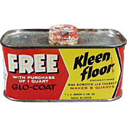 Vintage, Kleen Floor Tin by Johnson's Wax