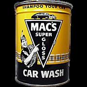 Vintage, Mac's Automotive Car Wash Tin