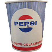 Vintage, Pepsi Paper Cups - Five, Unused