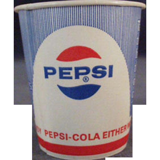 Vintage, Pepsi Paper Cups - Five, Unused