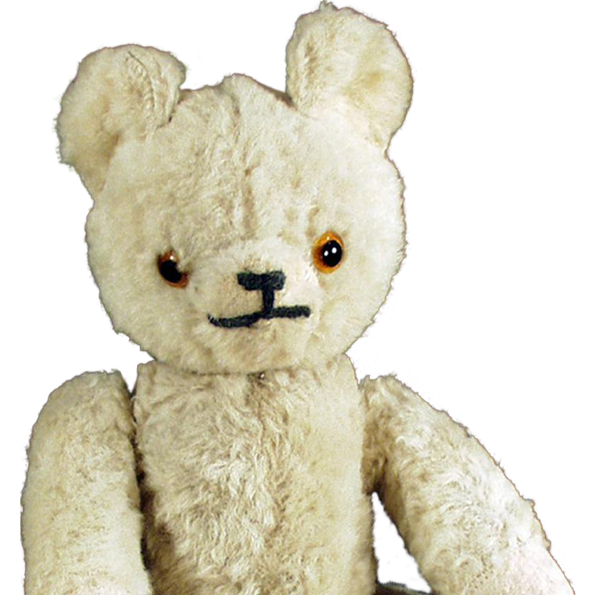 Vintage, Mohair Teddy Bear with Glass Eyes - Jointed