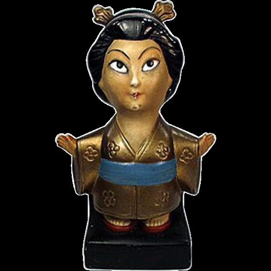 Vintage Incense Burner - Oriental Girl - Made in Germany