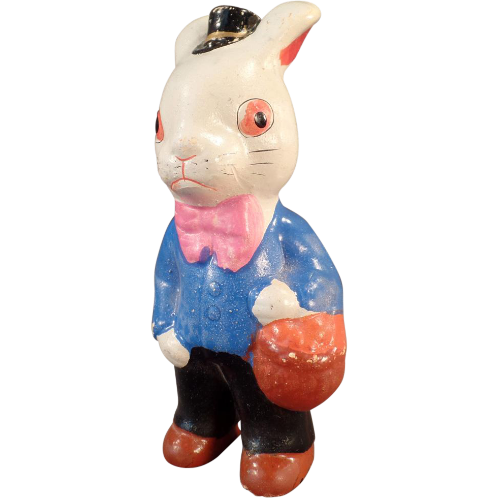 Vintage Easter Bunny - Composition White Rabbit